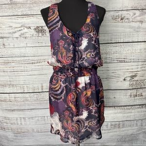"""FREE PEOPLE """"Falling for Georgette"""" Paisley Dress"""